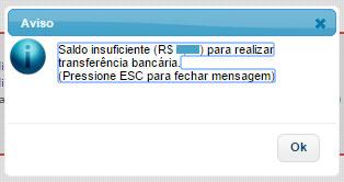 Saldo de créditos insuficiente Nota Paulista